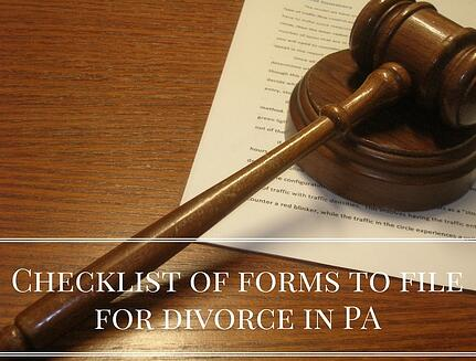 Checklist forms needed to file for divorce in pa checklist forms needed to file for divorce in pa solutioingenieria Choice Image