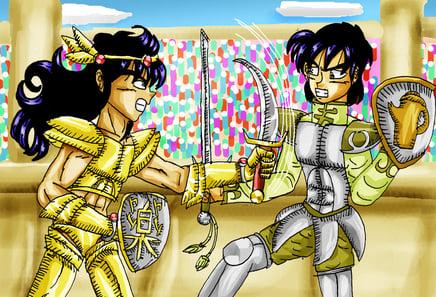 gladiator fight by mihonosaka