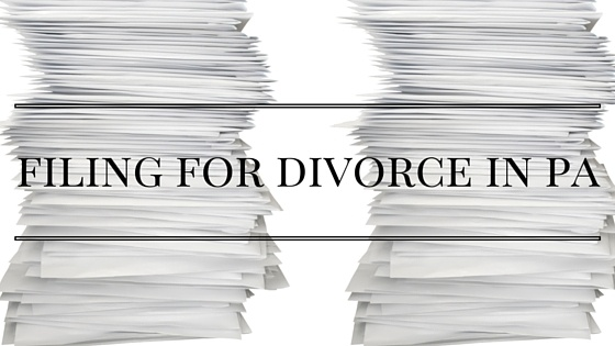 filing for divorce in pa